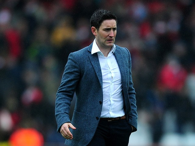 Lee Johnson, Manager of Barnsley looks on following the final whistle during the Sky Bet League One match between Bristol City and Barnsley at Ashton Gate on March 28, 2015