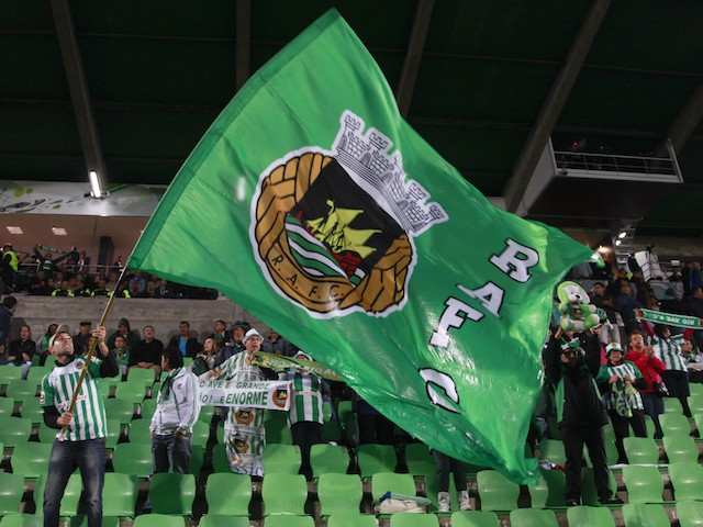 Rio Ave fans during the UEFA Europa League Group J match between Rio Ave FC and FC Dynamo Kyiv at the Dos Arcos Stadium on September 18, 2014 in Vila do Conde,Portugal.