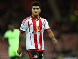 Sunderland's DeAndre Yedlin looks on during the Capital One Cup Third Round match between Sunderland and Manchester City at The Stadium of Light on September 22, 2015 in Sunderland, England.