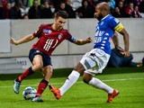 Lille's French defender Sebastien Corchia (L) vies with Troyes' French midfielder Quentin Othon during the French League Cup football match Lille vs Troyes on October 28, 2015 at the Pierre-Mauroy stadium in Villeneuve d'Ascq, northern France.
