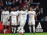 Marseille's French midfielder Georges-Kevin Nkoudou (2nd R) celebrates after scoring a goal during the UEFA Europa League football match between Marseille and Braga on November 5, 2015 at the Velodrome stadium in Marseille, southern France.