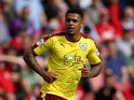 Andre Gray of Burnley during the Sky Bet Championship match between Bristol City and Burnley at Ashton Gate on August 29, 2015