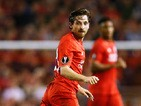 Joe Allen of Liverpool in action during the UEFA Europa League group B match between Liverpool FC and FC Sion at Anfield on October 1, 2015