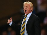 Scotland manager Gordon Strachan reacts during the UEFA EURO 2016 qualifier between Scotland and Poland at Hampden Park on October 08, 2015 in Glasgow, Scotland.