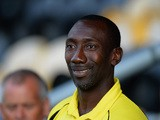 Jimmy Floyd Hasselbaink, Manager of Burton Albion during the Pre Season Friendly match between Burton Albion and Leicester City at Pirelli Stadium on July 28, 2015