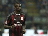 Mario Balotelli of FC Internazionale Milano looks on during the Serie A match between FC Internazionale Milano and AC Milan at Stadio Giuseppe Meazza on September 13, 2015