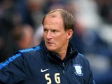 Simon Grayson the manager of Preston North End looks on prior to the Capital One Cup Second Round match between Preston North End and Watford at Deepdale on August 25, 2015