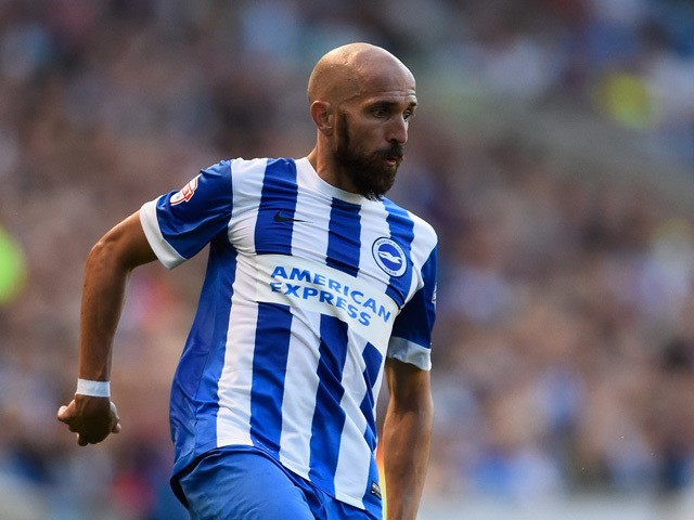 Bruno of Brighton in action during the Sky Bet Championship match between Brighton & Hove Albion and Nottingham Forest at Amex Stadium on August 7, 2015