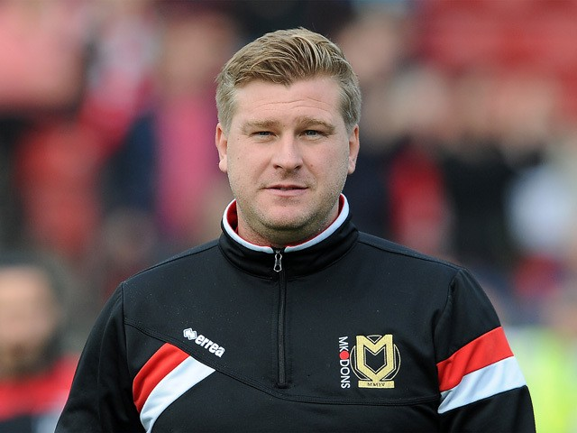 Karl Robinson, Manager of MK Dons during the Sky Bet Championship match between Bristol City and MK Dons at Ashton Gate on October 3, 2015