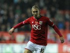 Luke Freeman of Bristol City during the Sky Bet Championship match between Bristol City and Wolverhampton Wanderers at Ashton Gate on November 3, 2015