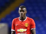 Axel Tuanzebe of Man United during the FA Youth Cup Fifth Round match between Tottenham Hotspur and Manchester United at White Hart Lane on February 09, 2015