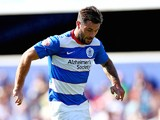 Charlie Austin of QPR in action during the Sky Bet Championship match between Queens Park Rangers and Rotherham United at Loftus Road on August 22, 2015 in London, England.