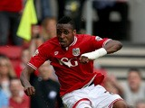 Jonathan Kodjia of Bristol City during the Sky Bet Championship match between Bristol City and Burnley at Ashton Gate on August 29, 2015