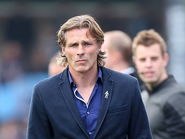 Wycombe Wanderers Gareth Ainsworth looks on during the Sky Bet League Two match between Wycombe Wanderers and Northampton Town at Adams Park on October 3, 2015