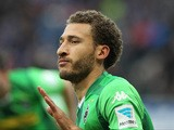 Monchengladbach's US defender Fabian Johnson celebrates scoring the 1-0 goal during the German first division Bundesliga football match TSG 1899 Hoffenheim vs Borussia Moenchengladbach in Sinsheim, southern Germany, on November 28, 2015
