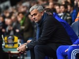 Chelsea boss Jose Mourinho watches on prior to the game with Spurs on November 29, 2015
