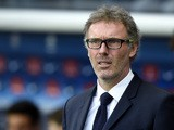 Paris Saint-Germain's French head coach Laurent Blanc attends the French L1 football match between Paris Saint-Germain (PSG) vs Toulouse on November 7, 2015