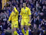 Rio Ferdinand and team mate Matthew Jones of Leeds can''t believe it as Leicester score another goal during the FA Carling Premiership match between Leicester City and Leeds United on December 2, 2000