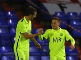 Jack Payne of Southend United celebrates after scoring the opening goal during the Sky Bet League One match between Oldham Athletic and Southend United at Boundary Park on November 24, 2015