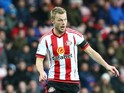 Sebastian Larsson of Sunderland in action during the Barclays Premier League match between Sunderland AFC and Stoke City FC at the Stadium of Light on November 28, 2015 in Sunderland, United Kingdom.