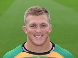 Alex Waller of Northampton Saints poses for a portrait at the photocall held at Franklin's Gardens on September 16, 2015