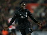 Liverpool's Belgian striker Daniel Origi celebrates scoring his team's fourth goal during the English League Cup quarter-final football match between Southampton and Liverpool at St Mary's Stadium in Southampton, southern England on December 2, 2015