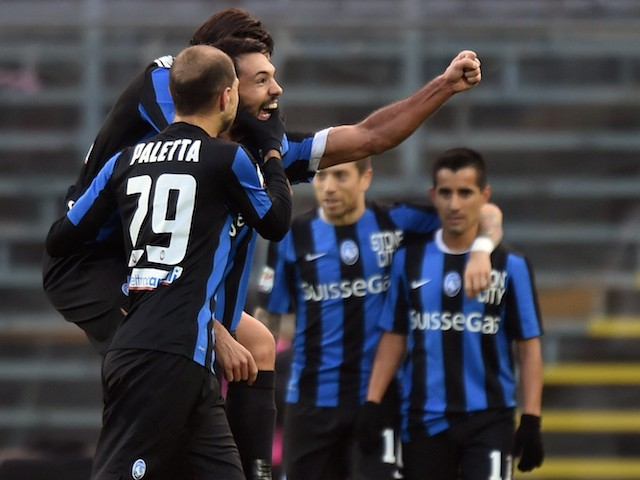 Nicolo' Cherubin of Atalanta celebrates after scoring his team's second goal during the Serie A match between Atalanta BC and US Citta di Palermo at Stadio Atleti Azzurri d'Italia on December 6, 2015 in Bergamo, Italy.
