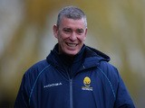 Dean Ryan, Director of Rugby of Worcester Warriors during the Aviva Premiership match between Worcester Warriors and Leicester Tigers at Sixways Stadium on December 05 2015