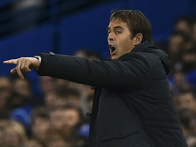 Porto's Spanish coach Julen Lopetegui gestures from the touchline during the UEFA Champions League Group G football match between Chelsea and Porto at Stamford Bridge in London on December 9, 2015.