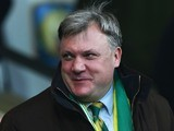 New Norwich City chairman Ed Balls arrives for the game with Aston Villa on December 28, 2015