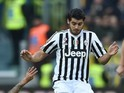 Alvaro Morata in action during the game between Juventus and Hellas Verona on January 6, 2016