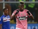 A menacing Paul Pogba celebrates scoring during the game between Sampdoria and Juventus on January 10, 2016