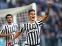 Paulo Dybala scores during the game between Juventus and Hellas Verona on January 6, 2016