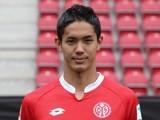 Mainz's Yoshinori Muto poses for his team photo on July 12, 2015