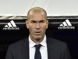 Zinedine Zidane appears prior to the game between Real Madrid and Deportivo La Coruna on January 9, 2016
