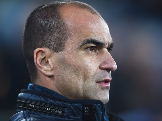 Everton manager Roberto Martinez looks on during the Capital One Cup semi-final first leg against Manchester City at Goodison Park on January 6, 2016