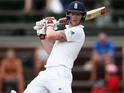 Ben Stokes in action with his big bat on day two of the third Test between South Africa and England on January 15, 2016