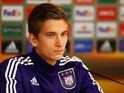 Anderlecht's Dennis Praet at a press conference in October 2015