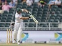 South Africa's batsman Faf du Plessis plays a shot during day one of the third Test match on January 14, 2016