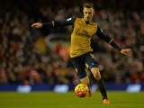 Aaron Ramsey in action during the game between Liverpool and Arsenal on January 13, 2016