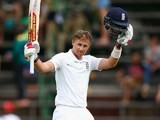 Joe Root celebrates his century on day two of the third Test between South Africa and England on January 15, 2016
