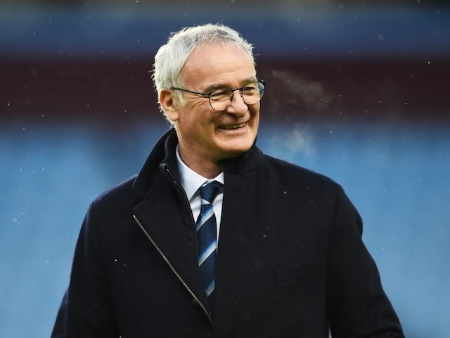 Claudio Ranieri has a chuckle prior to the game between Aston Villa and Leicester on January 16, 2016