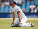 Ben Stokes on his knees on January 23, 2016