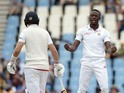 Kagiso Rabada celebrates the wicket of Joe Root on day three of the fourth Test between South Arica and England on January 24, 2016