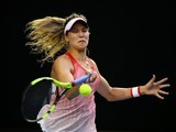 Eugenie Bouchard in action on day three of the Australian Open on January 20, 2016