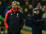 Managers Jurgen Klopp of Liverpool and Paul Tisdale of Exeter City at Anfield on January 20, 2016