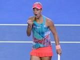 Angelique Kerber during the women's Australian Open final on January 30, 2016
