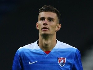 Matt Miazga in action for USA on September 3, 2015