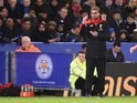 Jurgen Klopp issues instructions during the Premier League game between Leicester and Liverpool on February 2, 2016