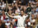 Adam Voges of Australia celebrates after reaching his century during day two of the Test match against New Zealand on February 13, 2016